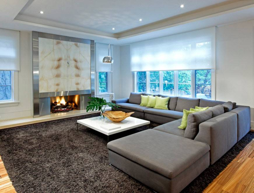 Дизайн гостиной в частном доме: фото примеров оформления интерьера