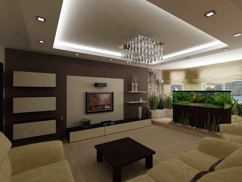 Фото разных дизайнов потолков в гостиной