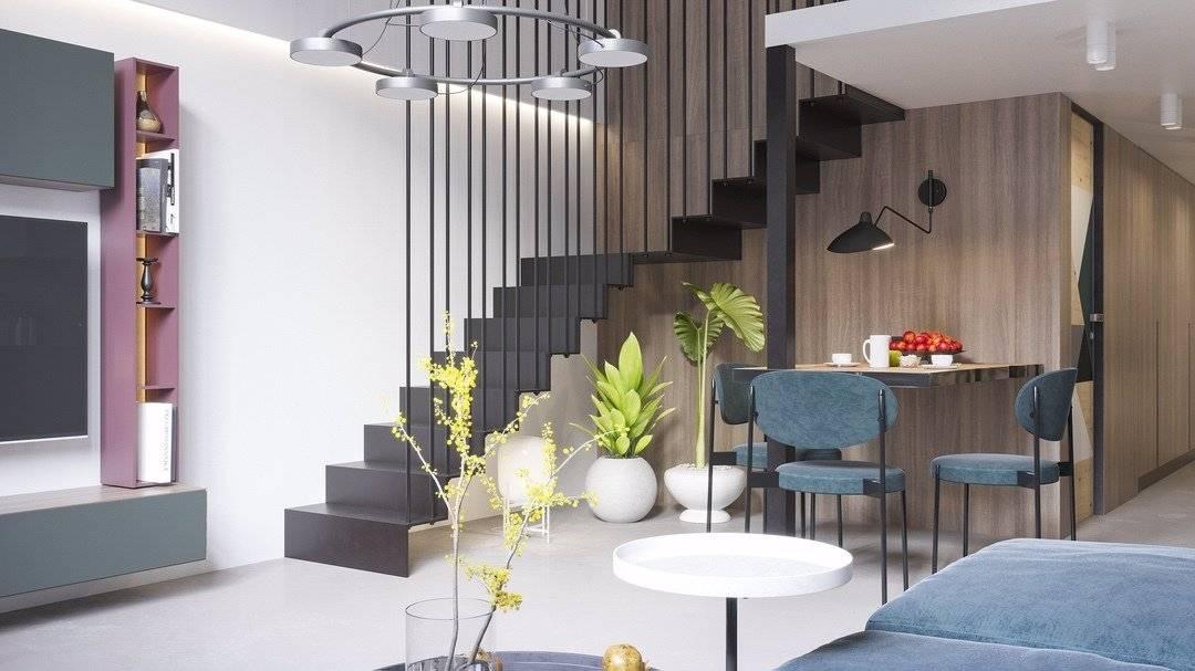 Двухуровневые квартиры - идеи создания уникального интерьера (110 фото)