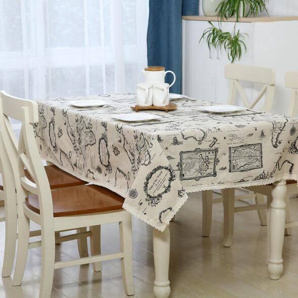 Скатерть на стол для кухни: эффектный аксессуар и 80 эстетически совершенных решений для дома