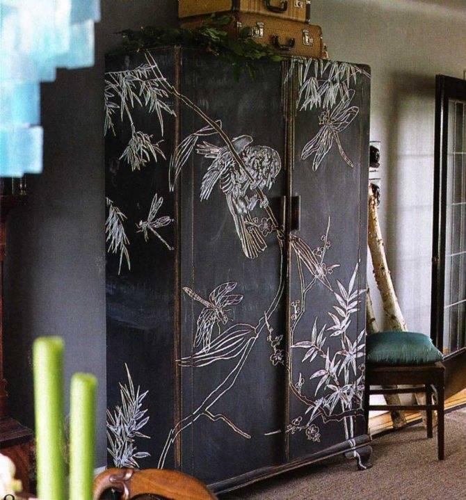 Как украсить шкаф своими руками