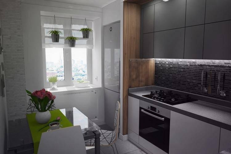 Идеи дизайна интерьера кухни 6 кв. м