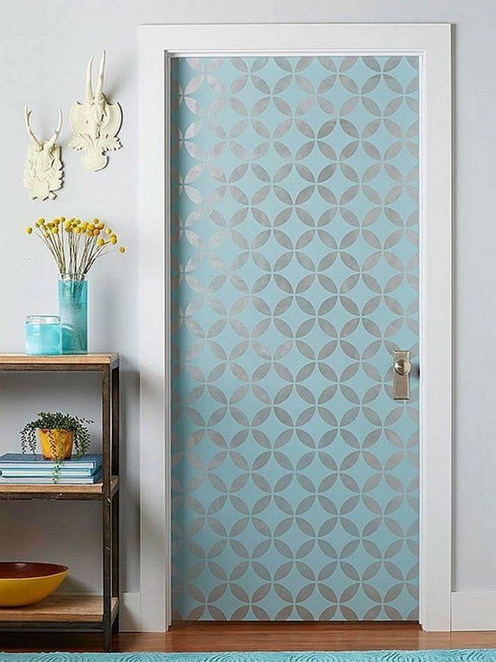 Декор дверей: 10 способов обновить дверное полотно   120 фото