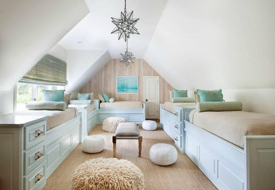 Спальня на мансарде: 60+ фото в интерьере, идеи дизайна