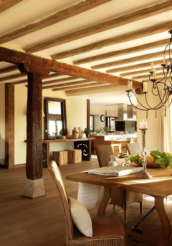45 фото дизайна самых красивых потолков с балками