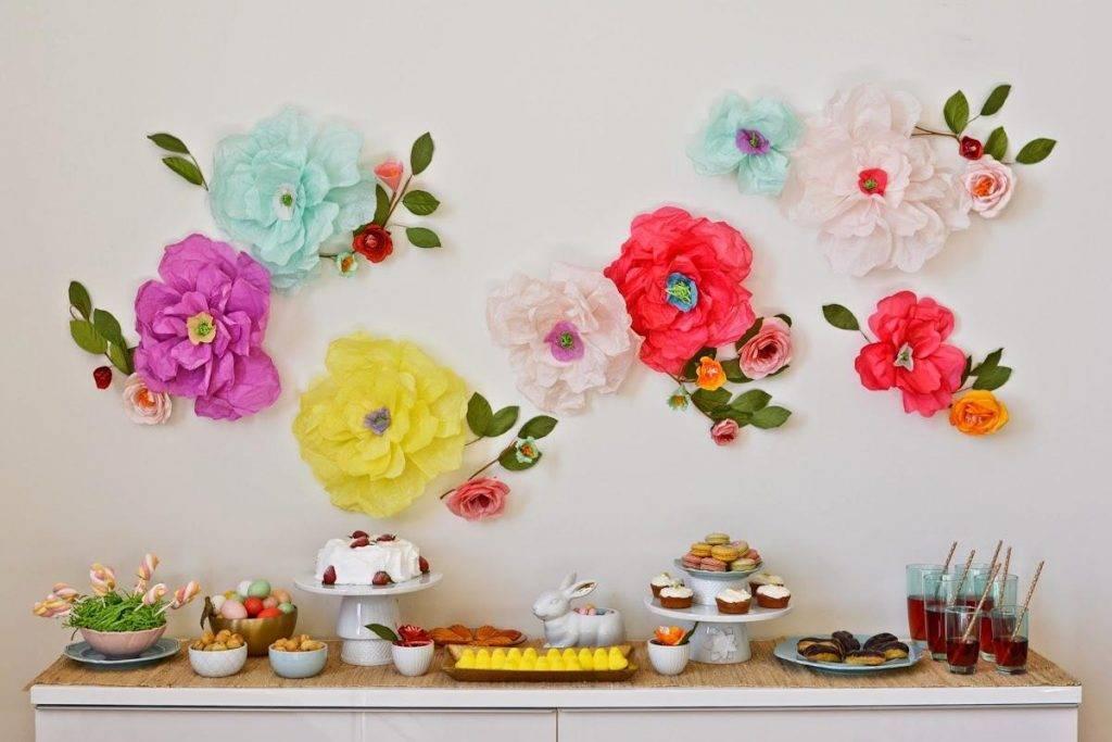 Популярные схемы и шаблоны объемных цветов из бумаги на стену: 60 фото и 4 видео