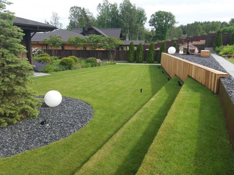 Использование искусственного и рулонного газона на даче