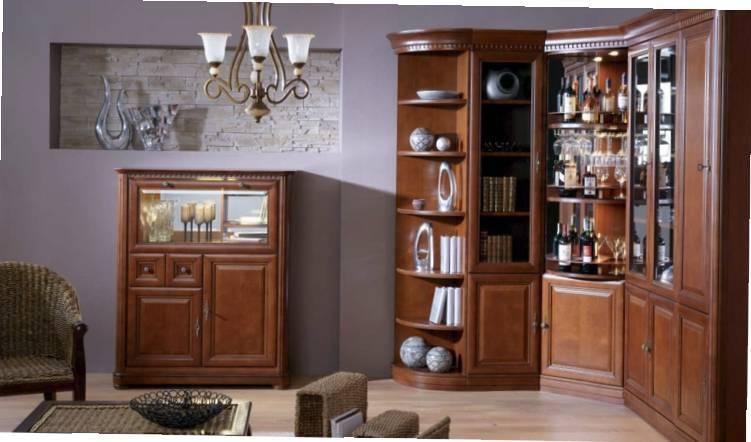 Шкаф витрина в гостиную — виды и примеры оформления