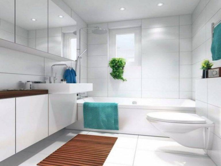 Белая плитка в ванной комнате: 80+ фото интерьера ванной с белой керамической плиткой