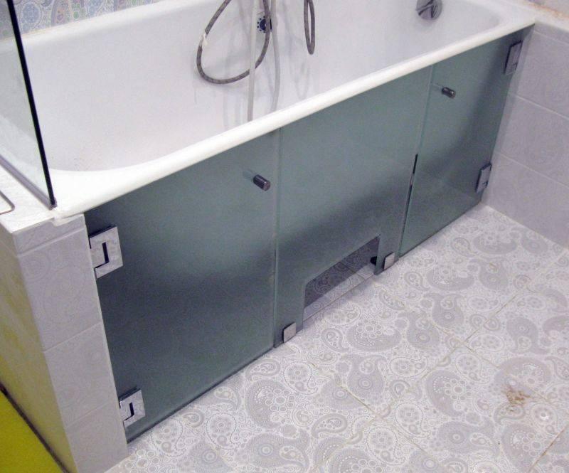 Раздвижные экраны для ванной комнаты - фото купе и откидных панелей