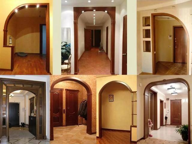 Дверной проем без двери: варианты оформления (105 фото идей)