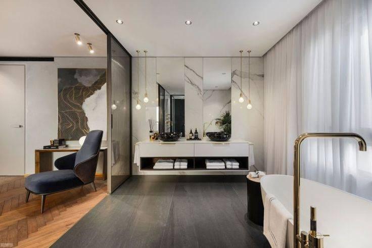 Дизайн ванной комнаты 2019 года – современные новинки, тренды и тенденции оформления (115 фото)