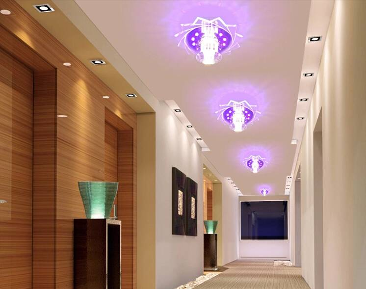 Правила, идеи и варианты освещения в коридоре