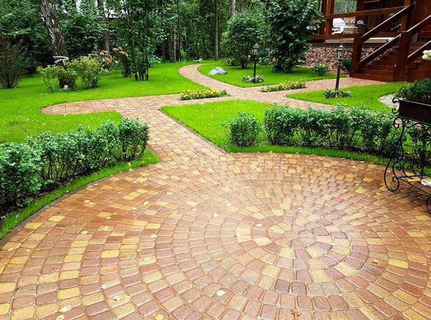 Разновидности тротуарной плитки во дворе частного дома - самстрой - строительство, дизайн, архитектура.