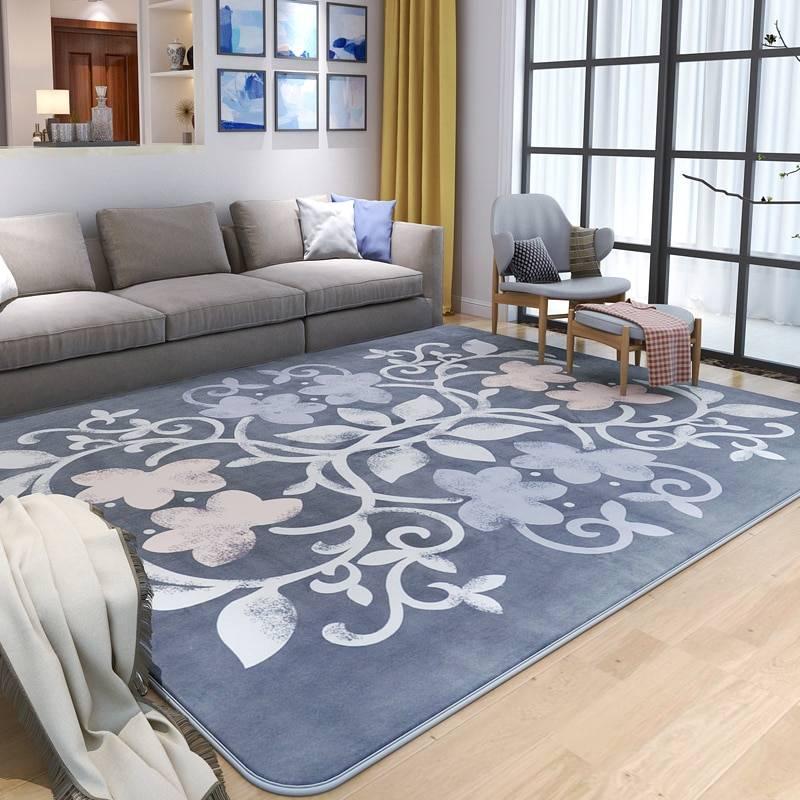 Ковер на пол в гостиную – особенности в интерьере, формы, стили и цвета