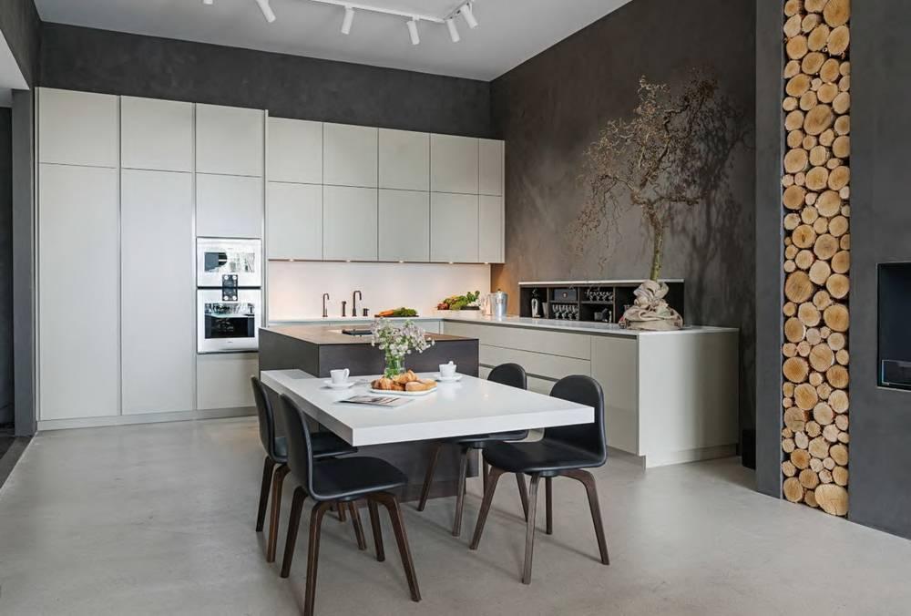 Дизайн кухни-гостиной в современном стиле (65 фото)