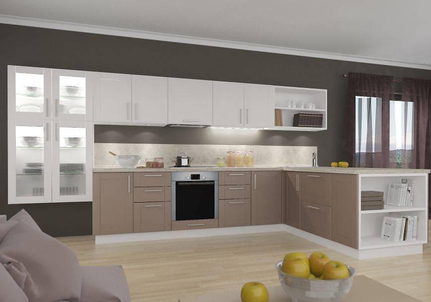 Двухцветные кухни (75 фото): сочетания двух разных цветов, кухни с темным верхом и светлым низом в дизайне интерьера, двухцветные кухонные гарнитуры с серым низом и бежевым верхом