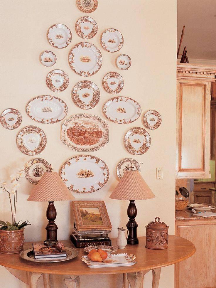 Декор стен тарелками своими руками