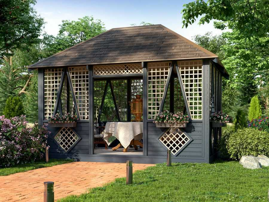 Решетки для беседки: особенности конструкций и75 вдохновляющих идей для вашего сада