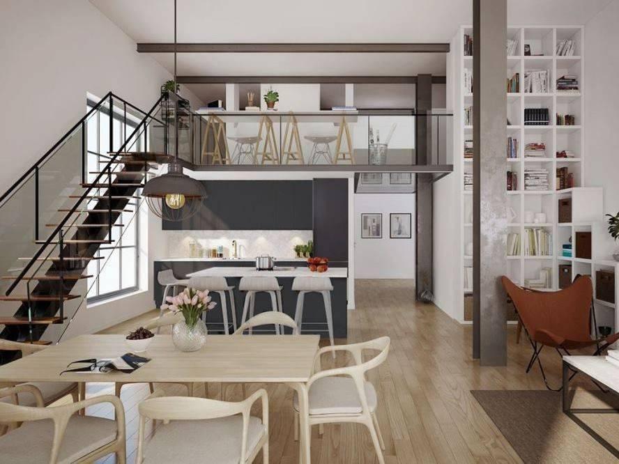 Двухуровневые (двухъярусные) квартиры: 52 фото планировок и идей дизайна