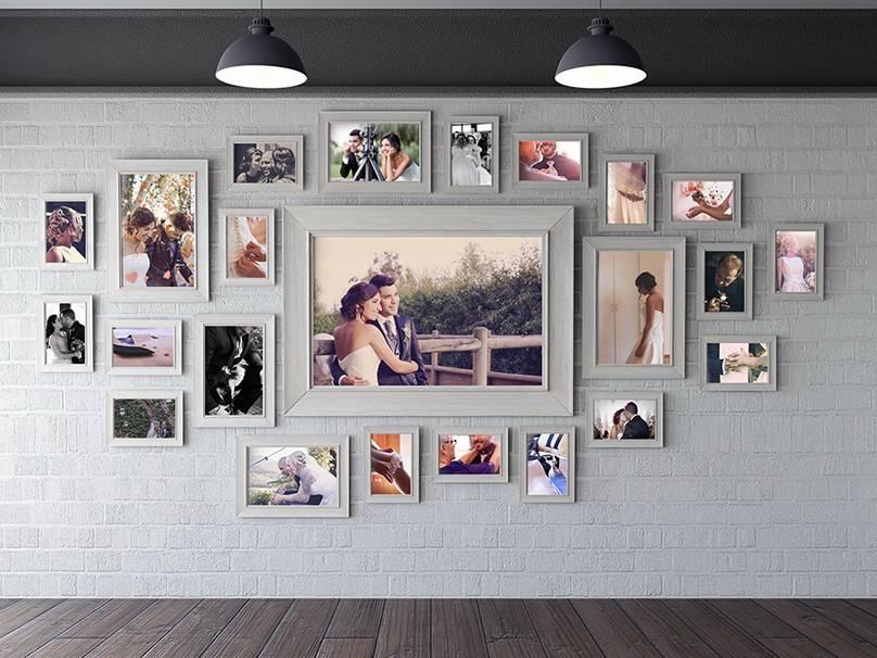 Оформление стены фотографиями: 40 замечательных идей