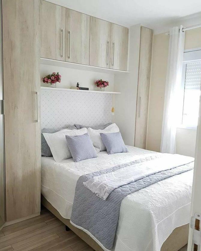Дизайн маленькой спальни 9 кв. м (86 фото): реальный дизайн интерьера комнаты с балконом, как обставить спальню в «хрущевке» без окна, планировка