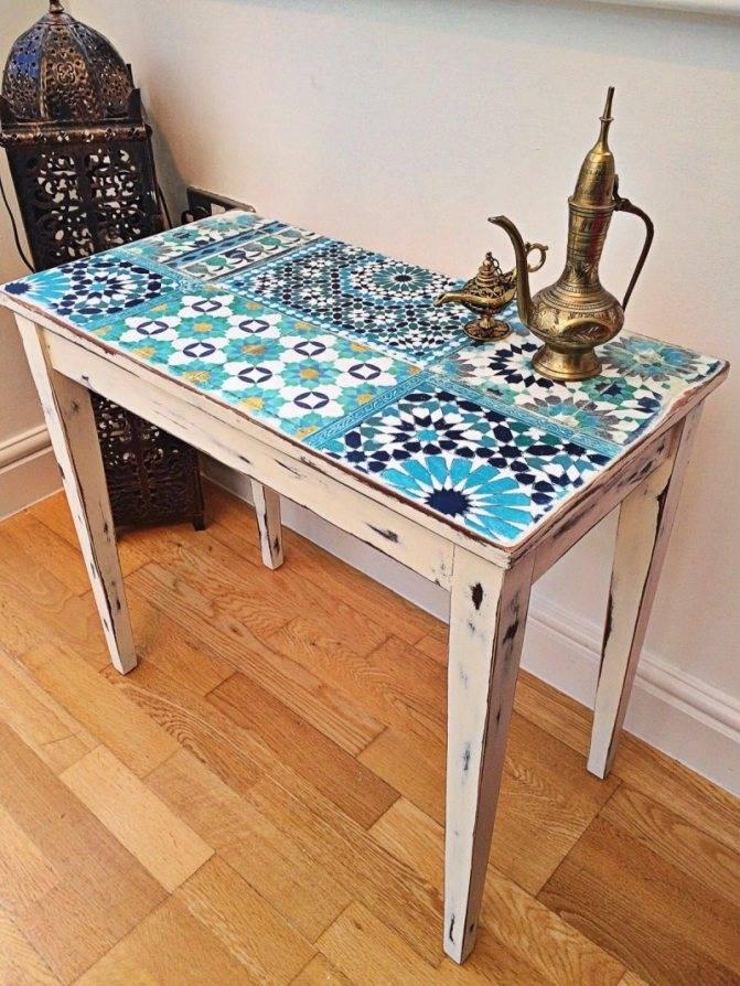 Современный декор стола своими руками
