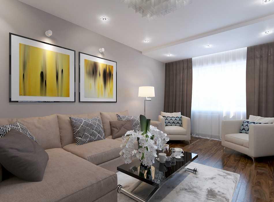 Новые идеи дизайна гостиной 16 кв. м
