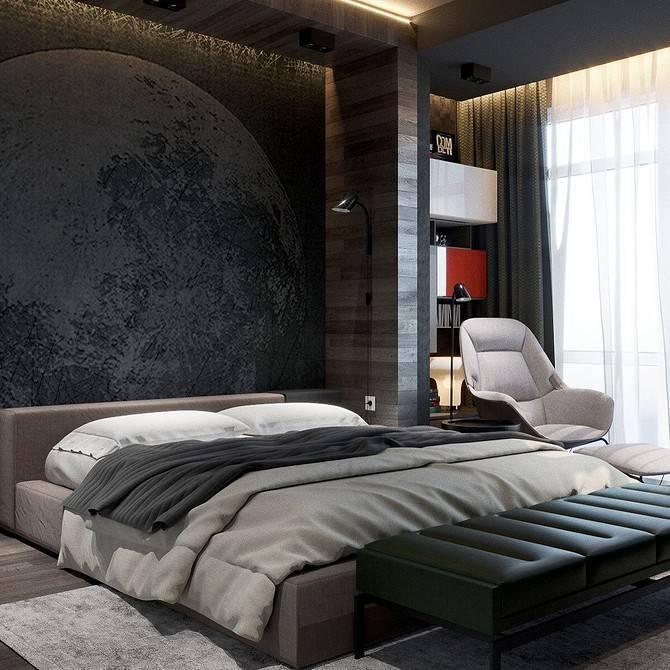 Спальня в темных тонах (66 фото): лучшие варианты дизайна интерьера комнаты в темном цвете