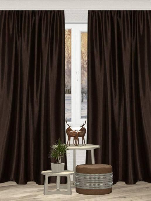 Коричневые шторы — особенности сочетания в интерьере (57 фото)