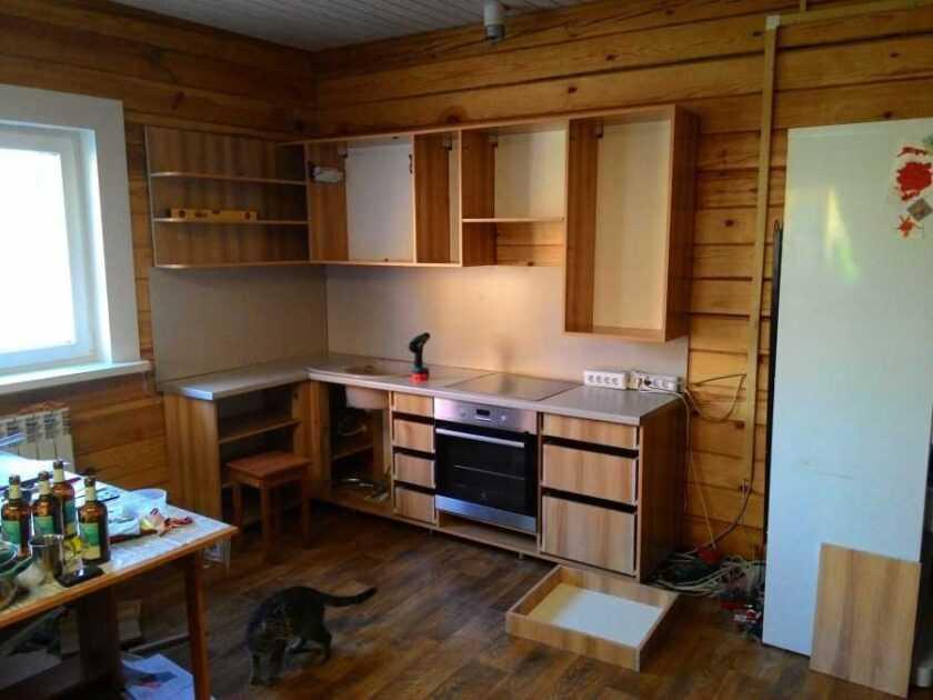 Кухня своими руками из дерева: сбор гарнитура и выбор материалов (50 фото)