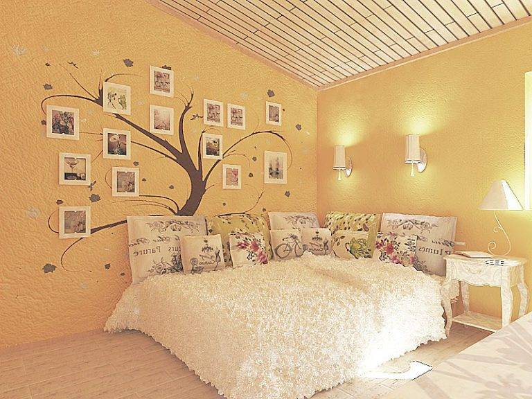 Оформление спальни в квартире: фото, декор, отделка стен
