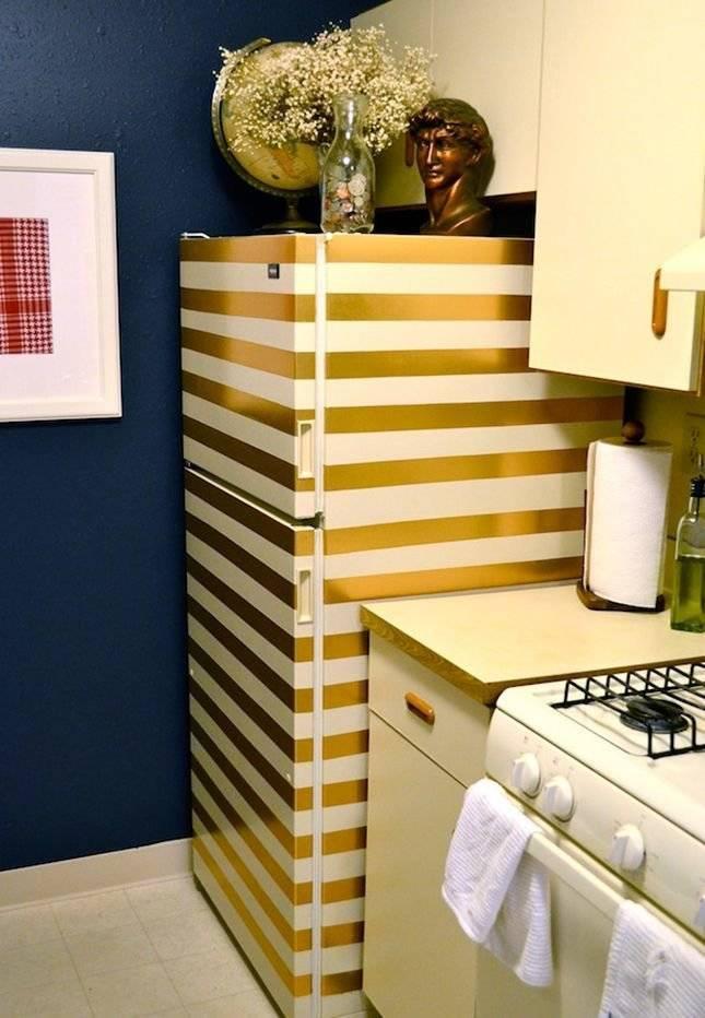 Как реставрировать старый холодильник своими руками. оформление холодильника при помощи пленки. чем обклеить холодильник в домашних условиях