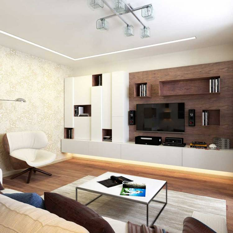 Кухня-гостиная 18 кв. м. – реальные фото, зонирование и планировки