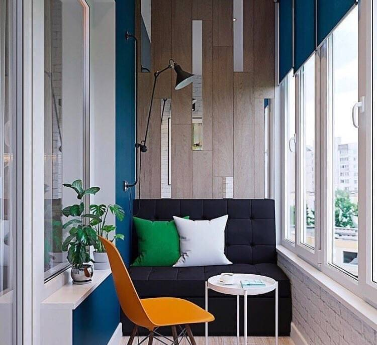Маленький балкон - стильный и практичный дизайн (88 фото)