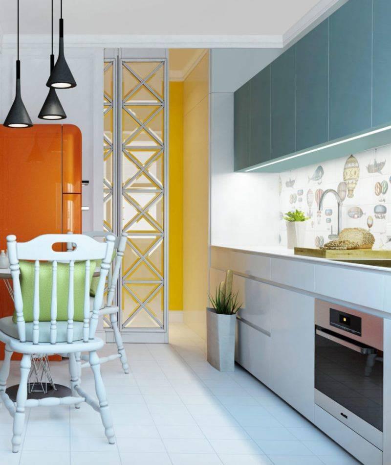 Комбинирование обоев на кухне - 33 фото примеров