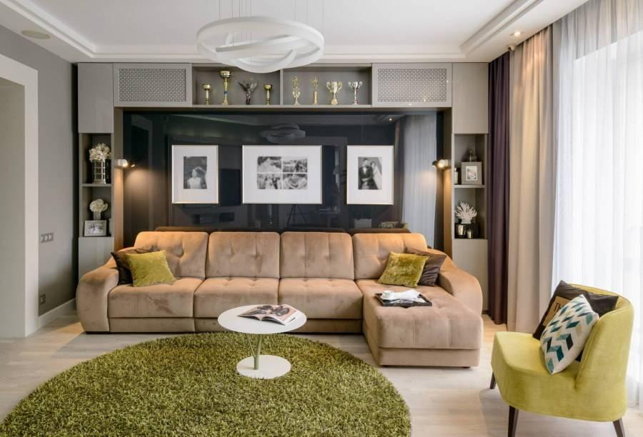 Расстановка мебели в гостиной: правила и варианты + 40 фото