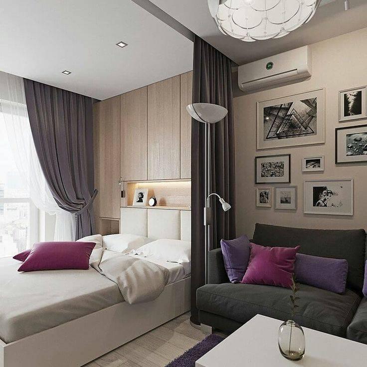 Объединение функций в комнате 18 кв. м: зонирование на спальню и гостиную по советам специалистов