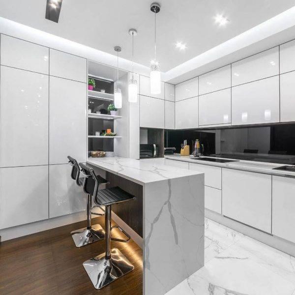 Стиль хай-тек в интерьере (75 фото) - идеи дизайна комнат, главные особенности