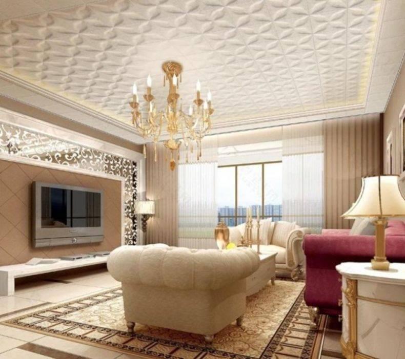 Красивый дизайн подвесных потолков
