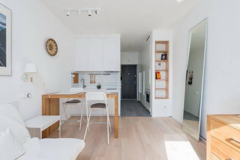 Дизайн квартиры-студии 29 кв. м. [50+ фото], планировки, проекты