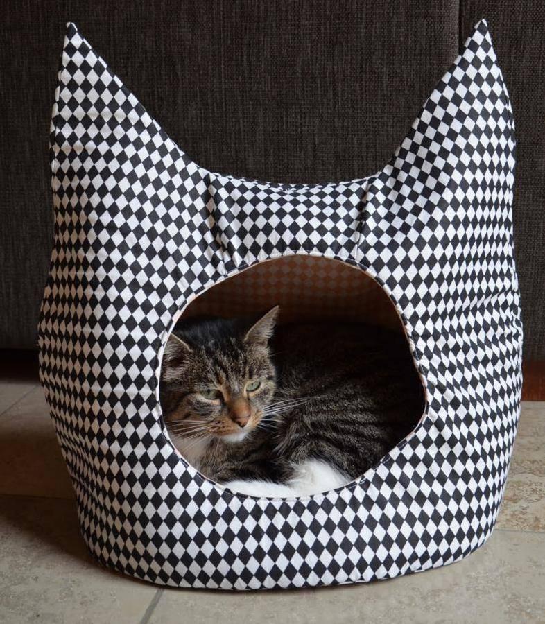 Лежанка для кошки своими руками - 85 фото как и из чего пошить лежанку для кошки