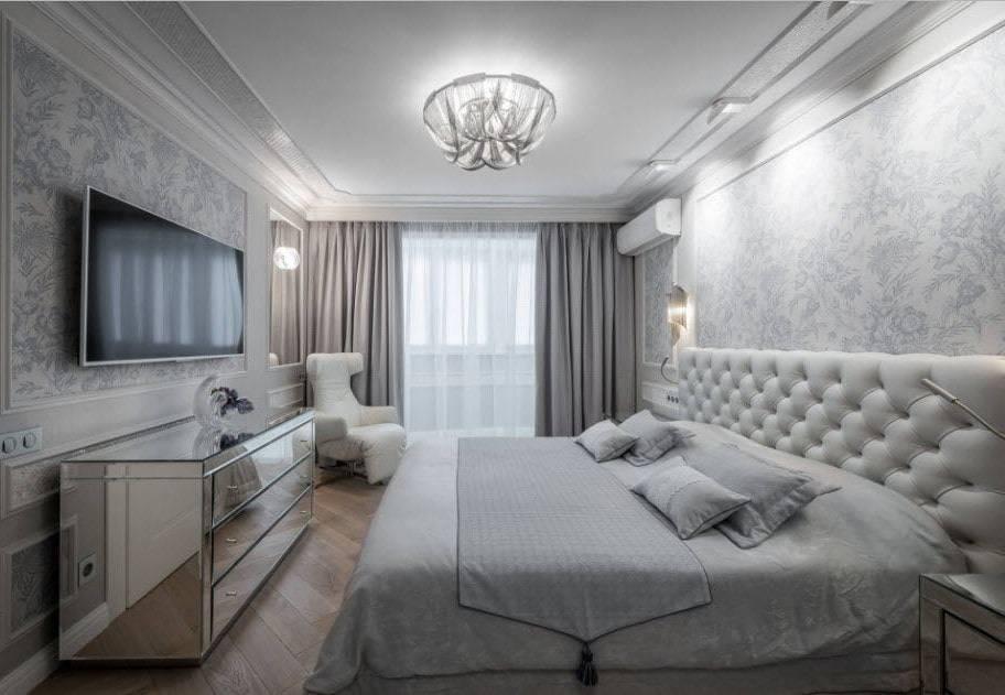 Спальня 14 кв м с дизайном в современном стиле с фото