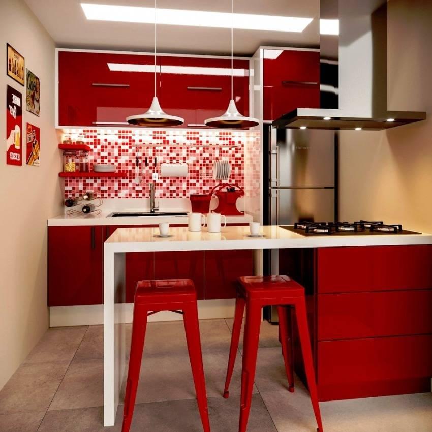 Красная кухня в интерьере (115+ фото): дизайн в ярких контрастах