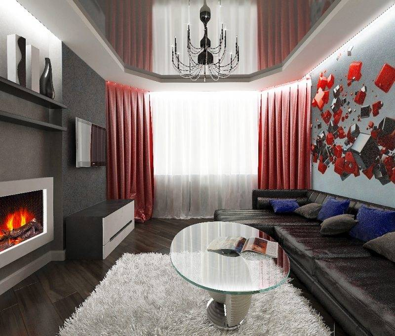Дизайн большой комнаты (54 фото): интерьер квадратной квартиры с большим окном в «хрущевке» и панельном доме