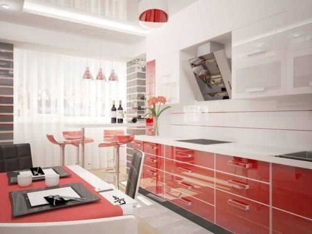 Красно белая кухня: 85 фото, сочетание цветов и дизайнерские рекомендации