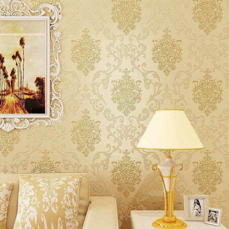 Применение обоев с узором дамаск в интерьере +75 фото идей - «декор»