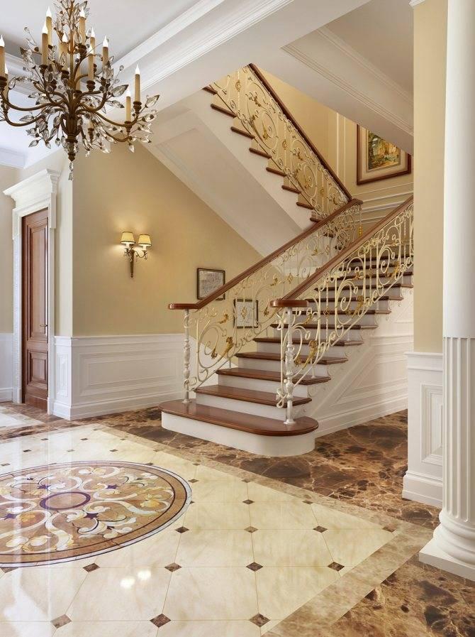 Дизайн холла с лестницей в частном доме: рассмотрим варианты