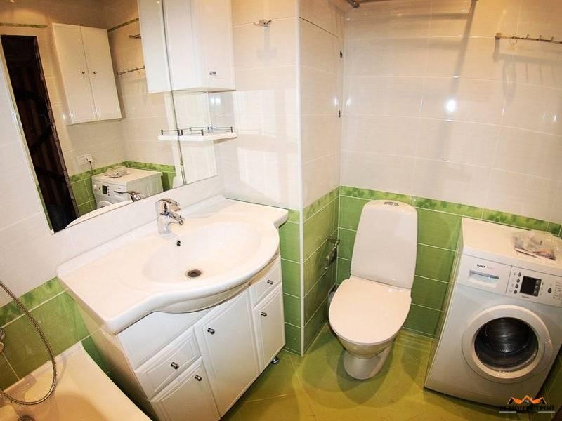 Дизайн ванной в хрущевке со стиральной машиной (14 фото)