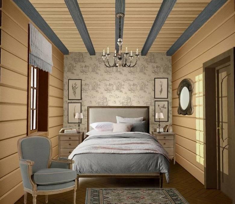 Спальня в деревянном доме — фото дизайна